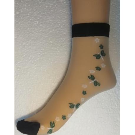 Kojinės su gėlėmis