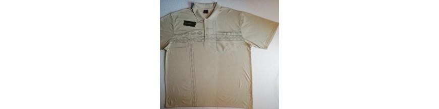 Pamarginti polo marškinėliai